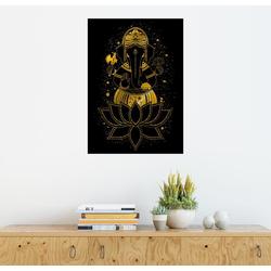 Posterlounge Wandbild, Ganesha in einer Blüte 50 cm x 70 cm