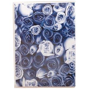 KPH Anywhere Roses Fotoalbum für 36 Fotos in 10x15 cm Einsteck Foto Album: Farbe: Blau