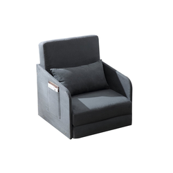 HOMCOM Sessel Klappbarer Schlafsessel mit 2 Seitentaschen