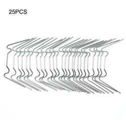 Gotui Pflanzentreppe, Clips befestigen,Gewächshaus Glas Verglasung Klemme,Befestigung Reparatur Ersatzclips,(Set, 25 Stk)