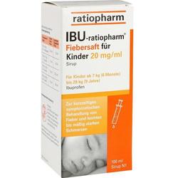 IBU-ratiopharm Fiebersaft für Kinder 20 mg/ml