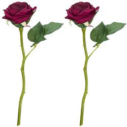 Rosen, dunkelrot, 30 cm, 2 Stück