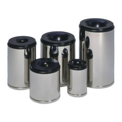 VAR Papierkörbe selbstlöschend, in Edelstahl - Ausführung, Inhalt: 110 Liter