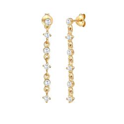 ELLI Damen Ohrringe Ear Chain, Kreis, Solitär-Ohrring gold, Größe One Size, 5004222