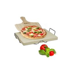relaxdays Pizzastein Pizzastein Set 3 cm, Cordierit