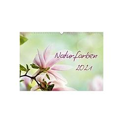 Naturfarben (Wandkalender 2021 DIN A3 quer)