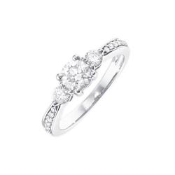Firetti Verlobungsring Vorsteckring, Weißgold, mit Diamanten 0,25 ct. 18