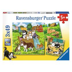 Ravensburger Puzzle Süße Katzen Und Hunde, 147 Puzzleteile