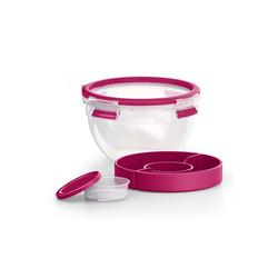 Emsa Salatbox Salatbox mit Einsätzen Clip Go, Kunststoff, (5-tlg) rosa