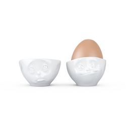 fiftyeight Eierbecherset Ochbitte/Lecker weiß