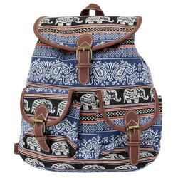 Leoodo Cityrucksack Damen Rucksack ethno Elefanten Muster, Daypacks für Reise