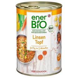 enerBiO Linsen Topf Bio-Dosen-Eintopf 400,0 g