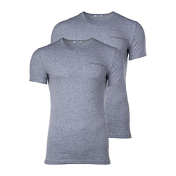 Bikkembergs Unterhemd Herren T-Shirt, 2er Pack - BIPACK, Unterhemd, grau 2XL