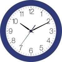 EUROTIME 88800-08-4 Quarz Wanduhr 30cm x 4.5cm Navy-Blau Schleichendes Uhrwerk (lautlos)