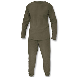 Mil-Tec Thermofleece Set m. Rundhals Shirt oliv , Größe L