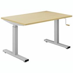 EXPERT Schreibtisch mit T-Fuß-Gestell und Kurbelantrieb, rechteckig, 70cm tief