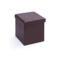 ebuy24 Aufbewahrungsbox Sanne Aufbewahrungsbox Hocker, faltbar mit Deckel, braun 38 cm x 38 cm x 38 cm