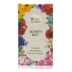 OwnGrown Blumenerde Blumenbeet - 10 Sorten samenfestes Premium Saatgut - Blumen für Garten und Balkon, (10-St)