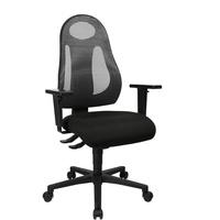 TOPSTAR Free Art, ergonomischer Bürostuhl, Schreibtischstuhl, inkl. höhenverstellbarer Armlehnen, Stoff, Anthrazit/Schwarz