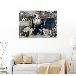 Posterlounge Wandbild, Eine Bar in den Folies-Bergère 90 cm x 70 cm