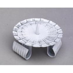 Hochzeitskerzenhalter aus Eisen mit Dorn in Weiß/Silber Ø 10 cm für Hochzeitskerzen
