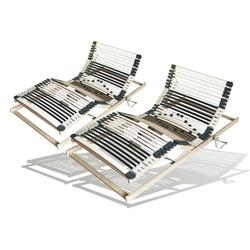 Set mit 2x  elektrischer Lattenrost, 70x200 cm, 44 Leisten, mit Netzfreischaltung u. Notabsenkung
