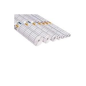 HERMA Buchschutzfolien, selbstklebend, 400 mm x 10 m transparent, glänzende Folie aus PP, Gitterlinien auf dem (7010)