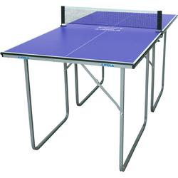 Joola Mini-Tischtennisplatte Midsize (2-tlg), Das Netz ist im Lieferumfang enthalten blau