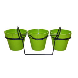 ONDIS24 Blumentopf Balkonkasten Blumentopf Toskane 3er Set grün