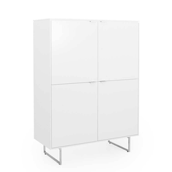 Esszimmer Highboard in Weiß 4 türig