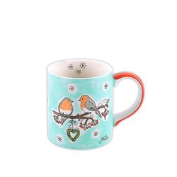Mila Becher Mila Keramik-Becher, Wintervögel, MI-80158