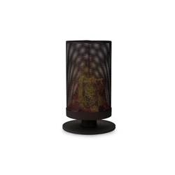 blumfeldt Feuerschale Ithaka Feuerschale Feuerkorb aus Stahl stabiler Stand schwarz, Wärmespendend: atmosphärische Feuerschale zum Abbrennen von Holz 4.4 cm x 4.4 cm x 72.5 cm