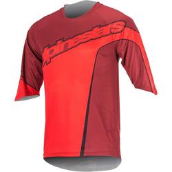 Alpinestars Crest 3/4 Fahrradshirt, rot, Größe S