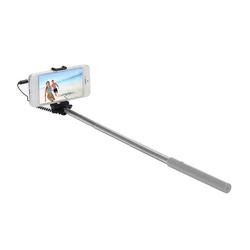 Ultron Selfie Hot Shot Selfiestick (45 cm Selfie Stick, Kamera Auslöser am Griff Stange, Smartphone, Handy, silber)