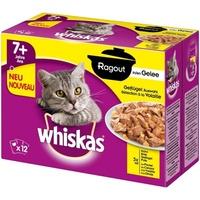 Whiskas 7+ Ragout Geflügelauswahl in Gelee 48 x 85 g