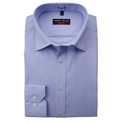 MARVELIS Streifenhemd Hemd - Body Fit - Streifen - Hellblau 42
