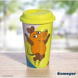 Coffee-to-go Becher Sendung mit der Maus aus weißem Porzellan mit