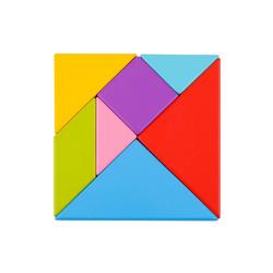 Tooky Toy Puzzle Tooky Toy Geometrie-Puzzle Tangram aus Holz - Kinder-Spielzeug Lern-Spielzeug, Puzzleteile