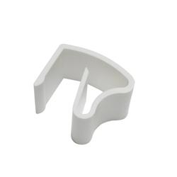 Gardinenstange Klemmhalter Kunststoff weiß 2er Pack, GARDINIA