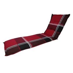 Madison A023 Rollliegenauflage Gartenliege Auflage 190x60x8cm rot kariert