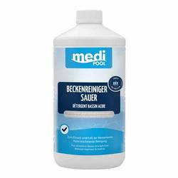 mediPOOL Beckenreiniger sauer 1 Liter, Grundreiniger, Poolreiniger, Randreiniger