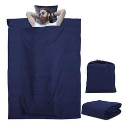 Intirilife Schlafsack Intirilife Schlafsack Reiseschlafsack Kissen Decke, Dünner Hüttenschlafsack Reiseschlafsack blau