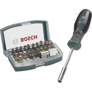 Bosch Accessories Promoline 2607017189 Bit-Set 33teilig Schlitz, Kreuzschlitz Phillips, Kreuzschlitz