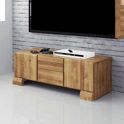Lowboard aus Wildeiche Massivholz 120 cm