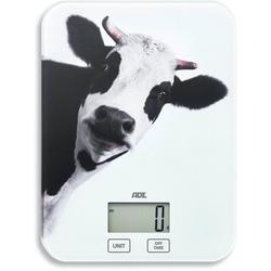 ADE Küchenwaage KE 1603 Inka, digitale Waage mit Kuh-Print bis 5kg mit Sensor-Touch, Tara