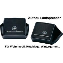 Pioneer Multiroom-Lautsprecher (Aufbaulautsprecher Pioneer FullRange TS-44 Lautsprecher Paar)