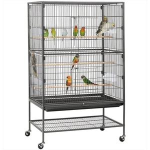 Yaheetech Vogelkäfig, aus Metall, Vogelvoliere Nagerkäfig mit schmutzwanneneinsatz für Nymphensittiche, Papageien, Tauben, Sittiche, Finken