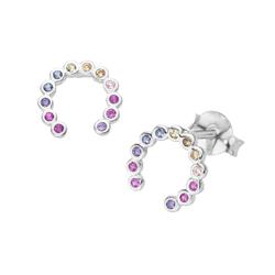 Smart Jewel Smart Jewel Ohrstecker Hufeisen, Silber 925