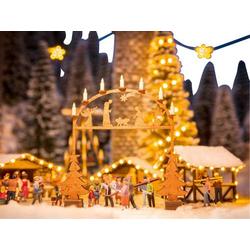 NOCH 0014391 H0 Laser-Cut minis Weihnachtsmarkt-Eingangsbogen