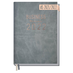 Häfft Taschenkalender Business-Timer 2021/2022 / A5 / 18 Monate rosa